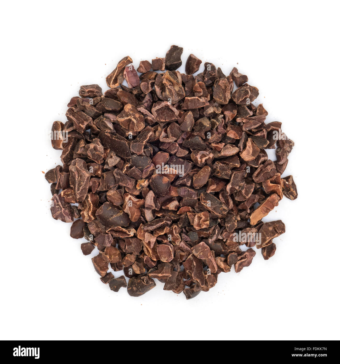 Cacao Nibs Isolated Top View - Stock Image