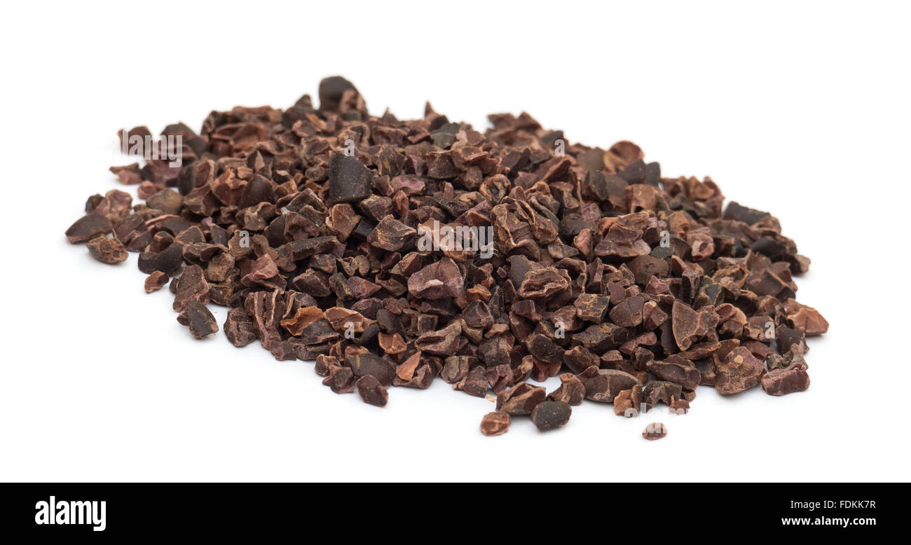 Cacao Nibs Pile Isolated - Stock Image