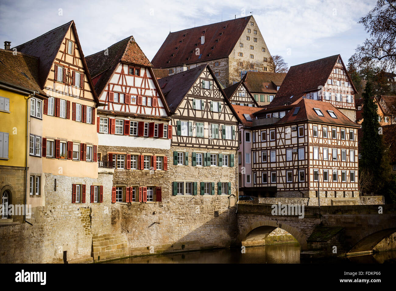 timbered,baden wurttemberg - Stock Image