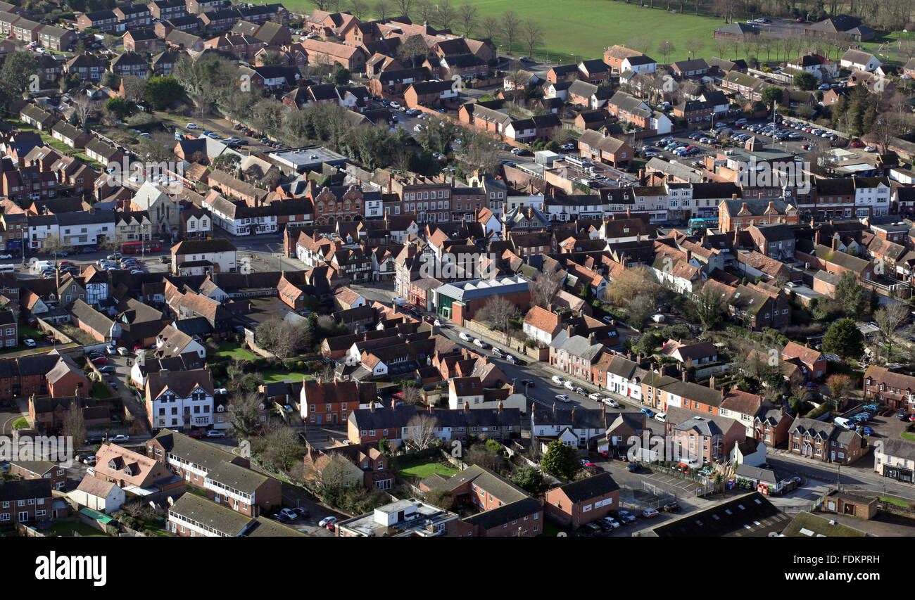 aerial view of the English town Thame in Oxfordshire, UK - Stock Image