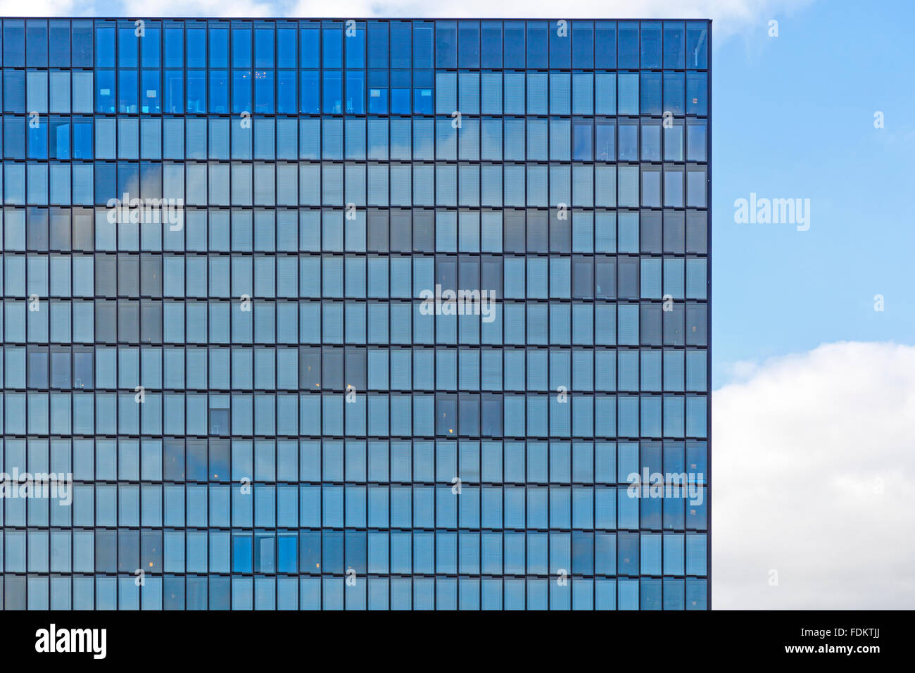 office building,glass facade - Stock Image