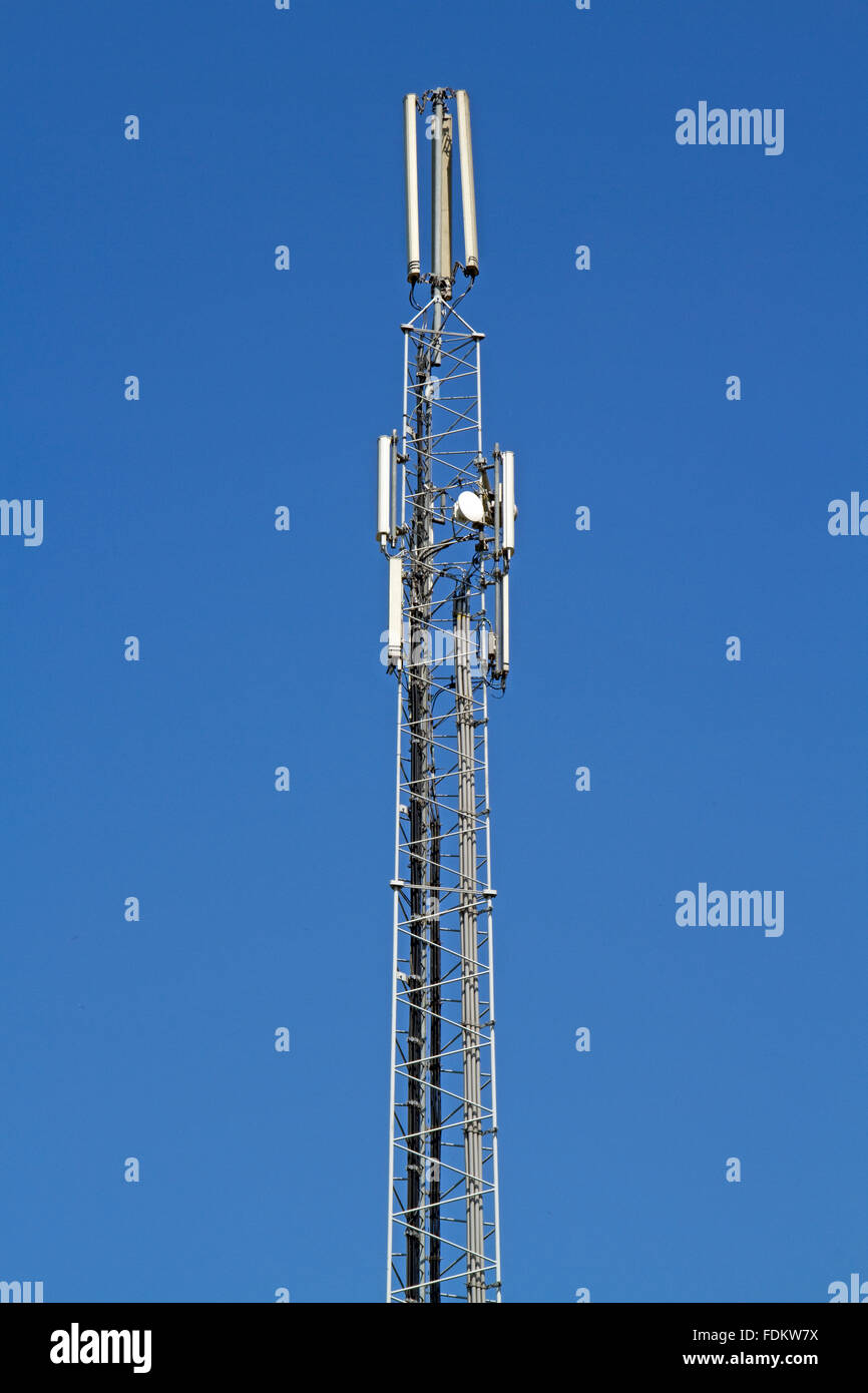 communications tower,transmitter,repeater tower - Stock Image
