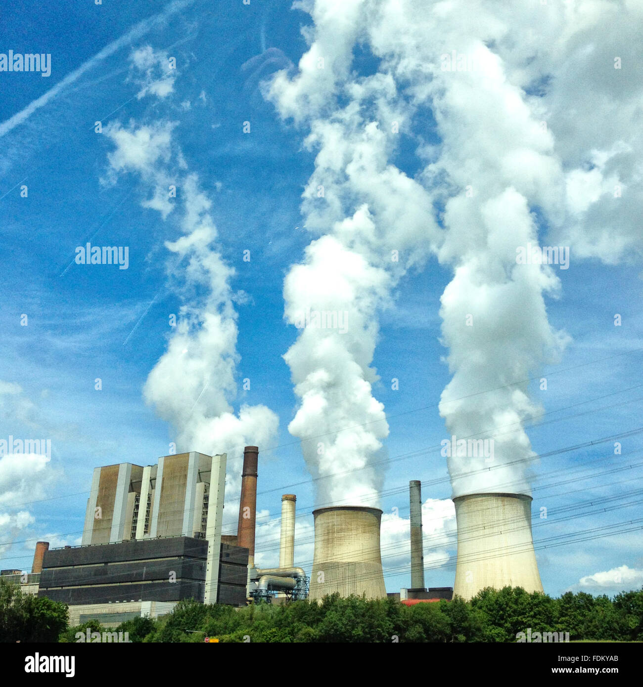 industry,power station,power plant - Stock Image