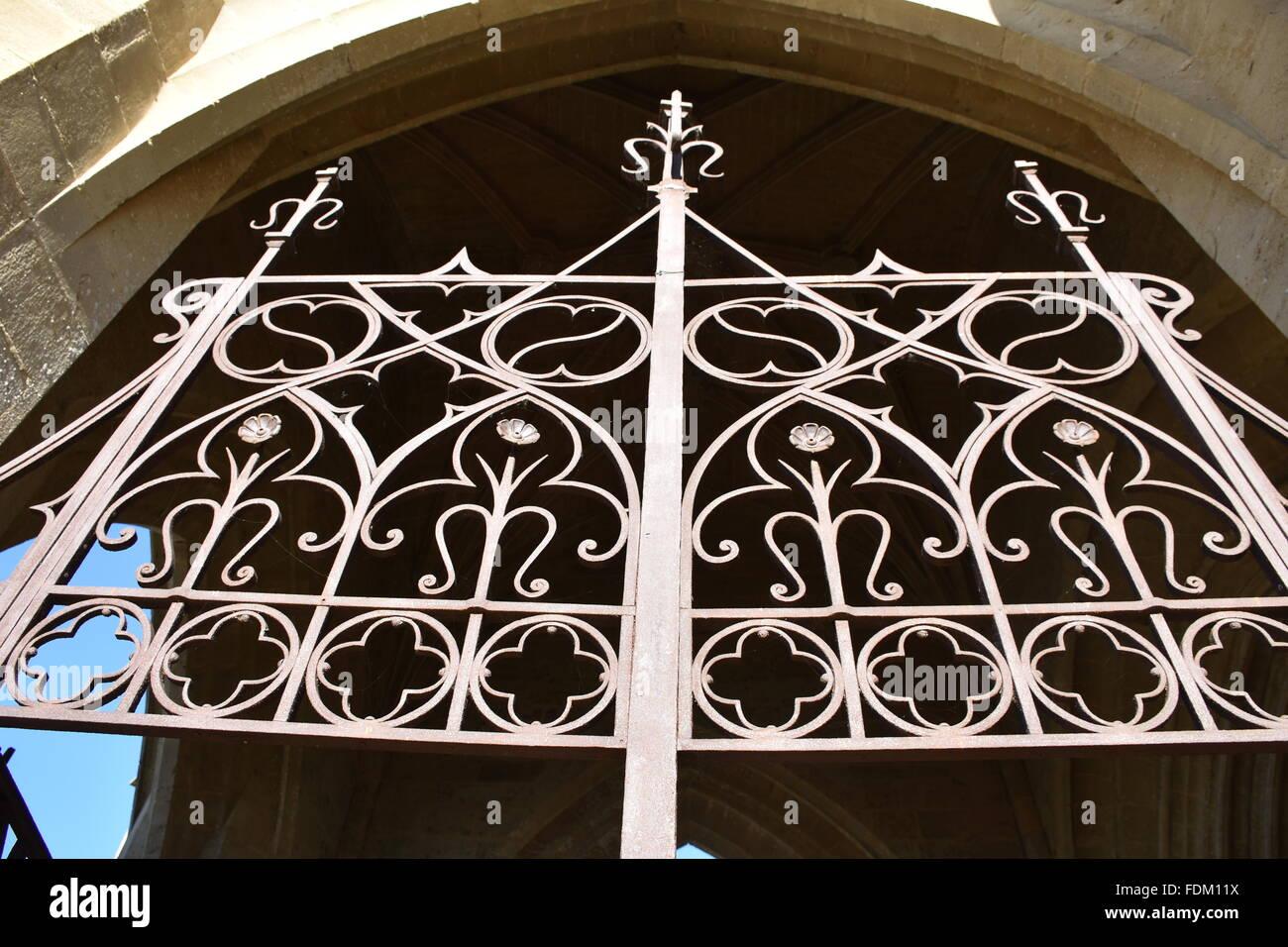 Eglise de Beaumarchés, Gers (32) France - Stock Image