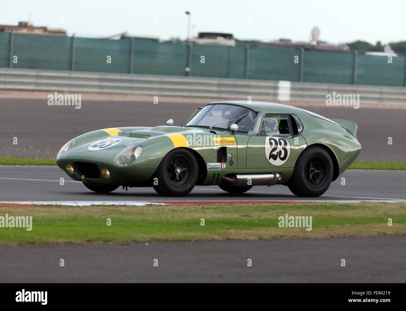 An AC Cobra Daytona,  participating in the International Trophy for Classic GT Cars, (Pre 66), at the Silverstone - Stock Image