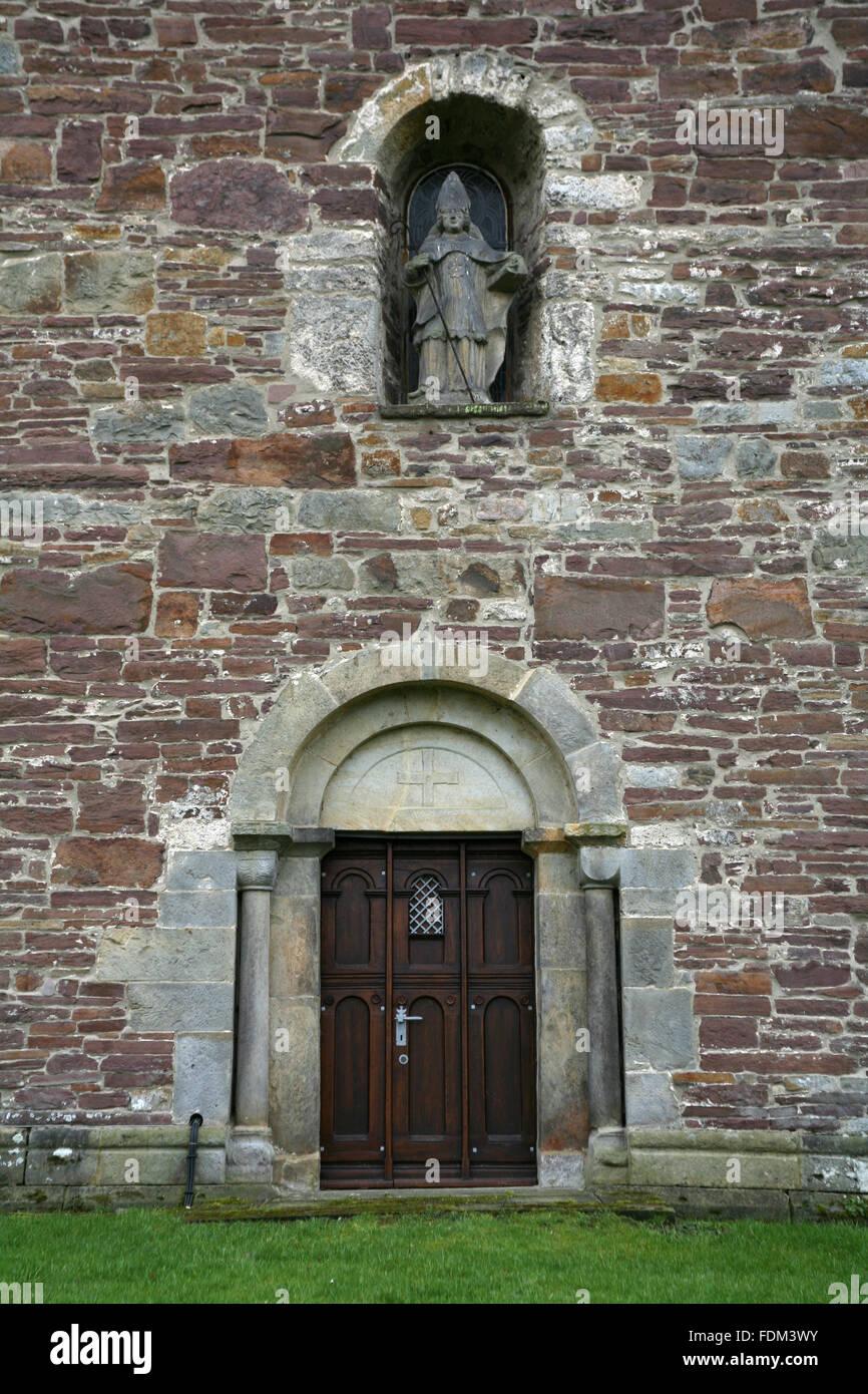 church,door,kilian church,st kilian - Stock Image