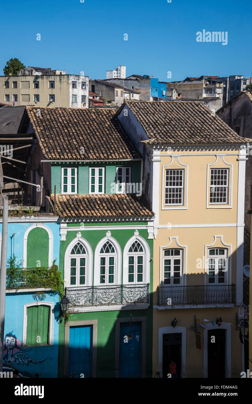 Colonial buildings, Historical centre Pelourinho, Salvador, Bahia, Brazil - Stock Image