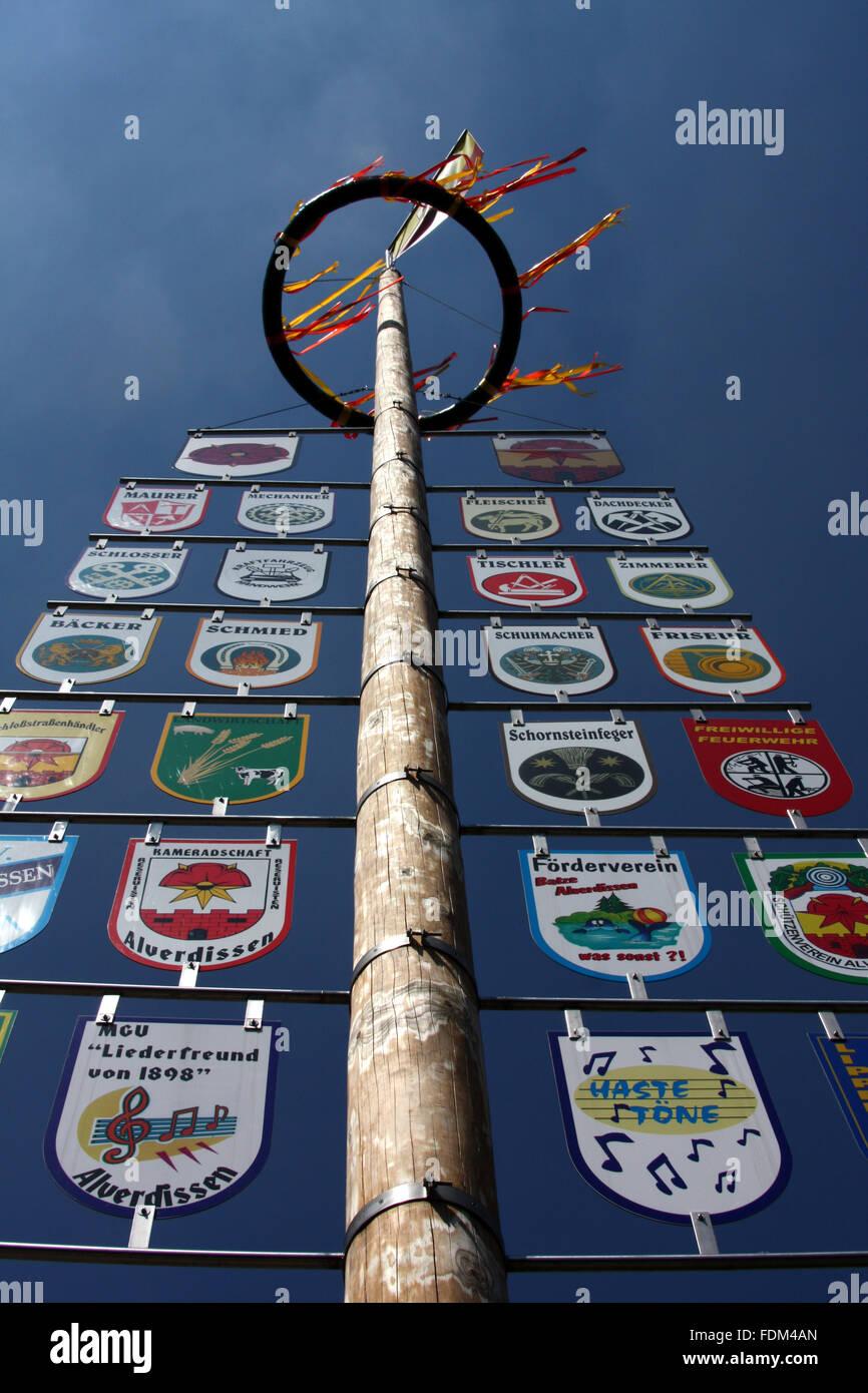 maypole,zunft tree - Stock Image