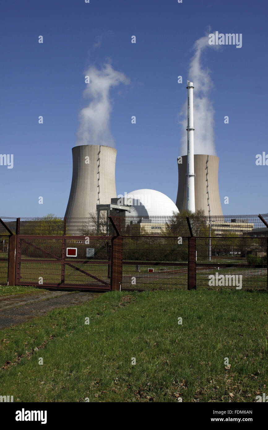 nuclear power station,grohnde - Stock Image