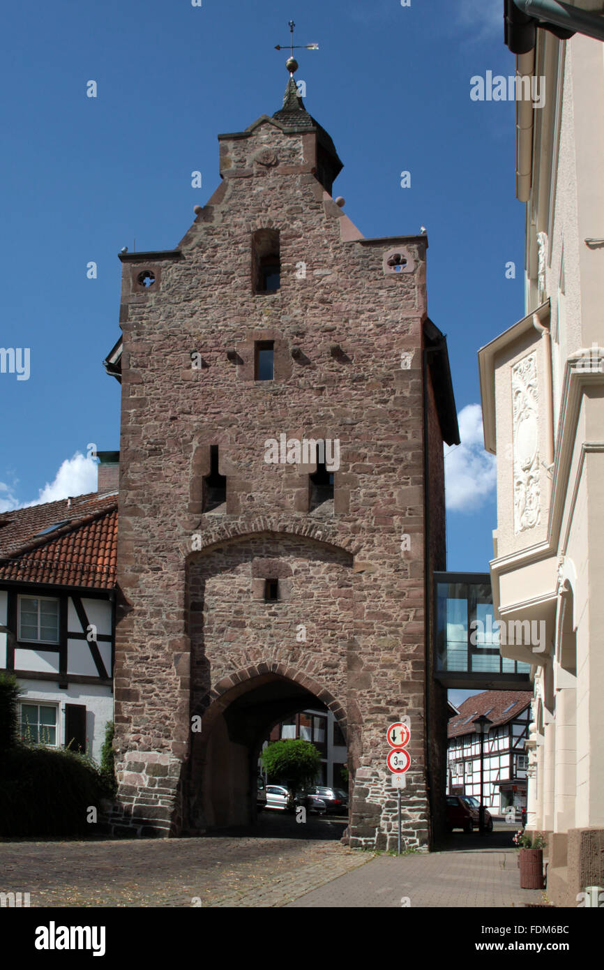 city gate,blomberg - Stock Image