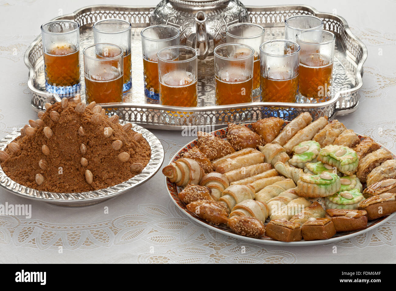 Great Morocco Eid Al-Fitr 2018 - traditional-moroccan-teacookies-and-almond-sellou-at-id-al-fitr-the-FDM6MF  Pic_375100 .jpg