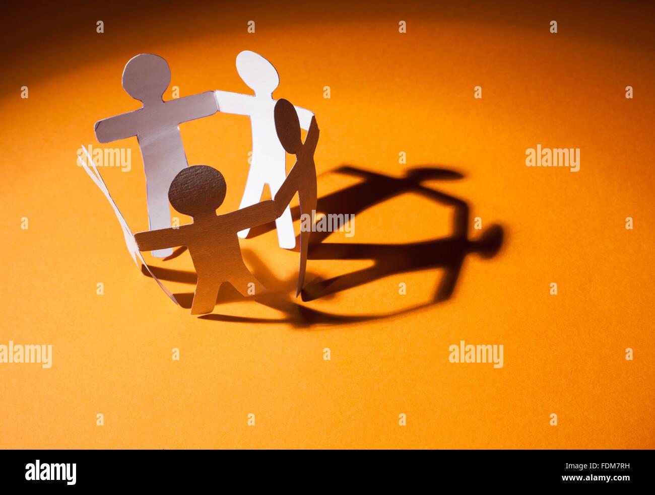 Paper team - Stock Image