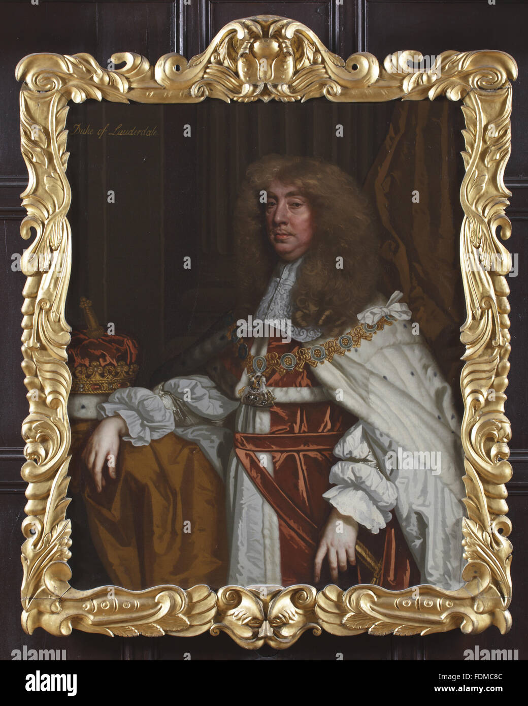 JOHN MAITLAND, DUKE OF LAUDERDALE (1616-1682) IN GARTER ROBES by Sir Peter Lely (Soest 1618 - London 1680), circa - Stock Image