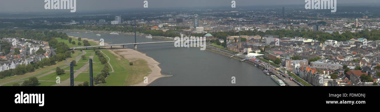 city view,düsseldorf,rhine river - Stock Image