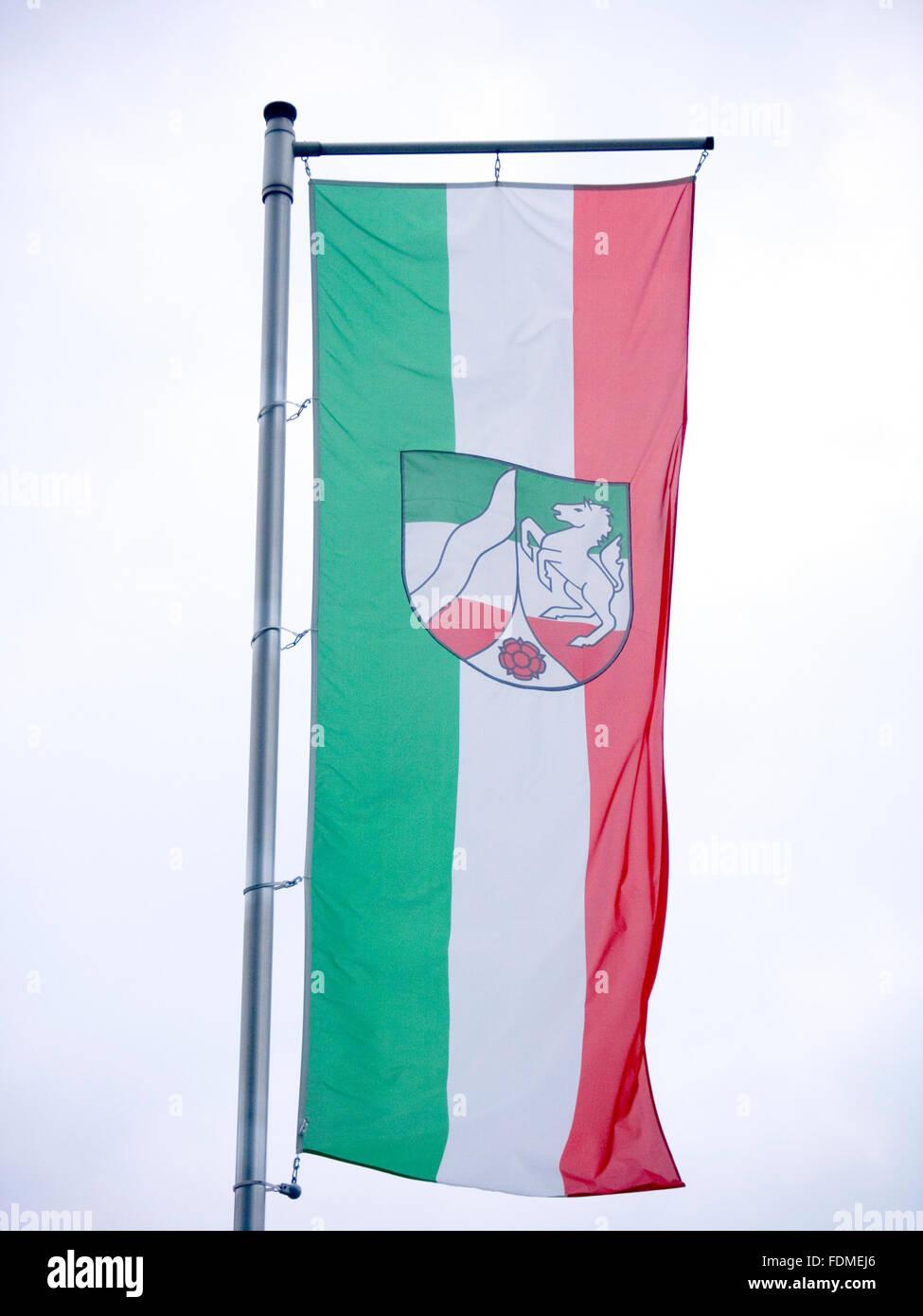 flag,north rhine westphalia Stock Photo