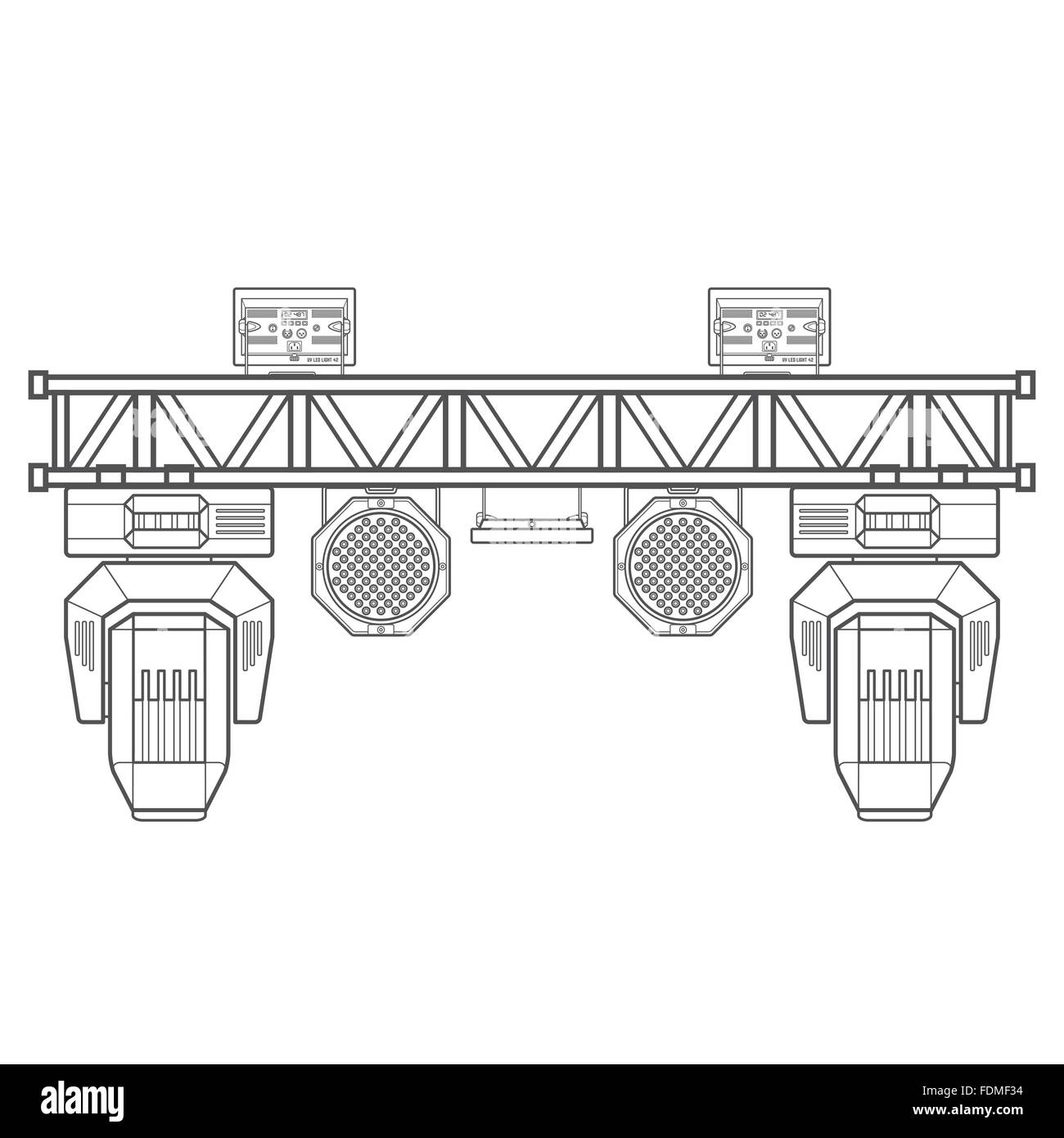 straight m truss length systems lighting to stage sale