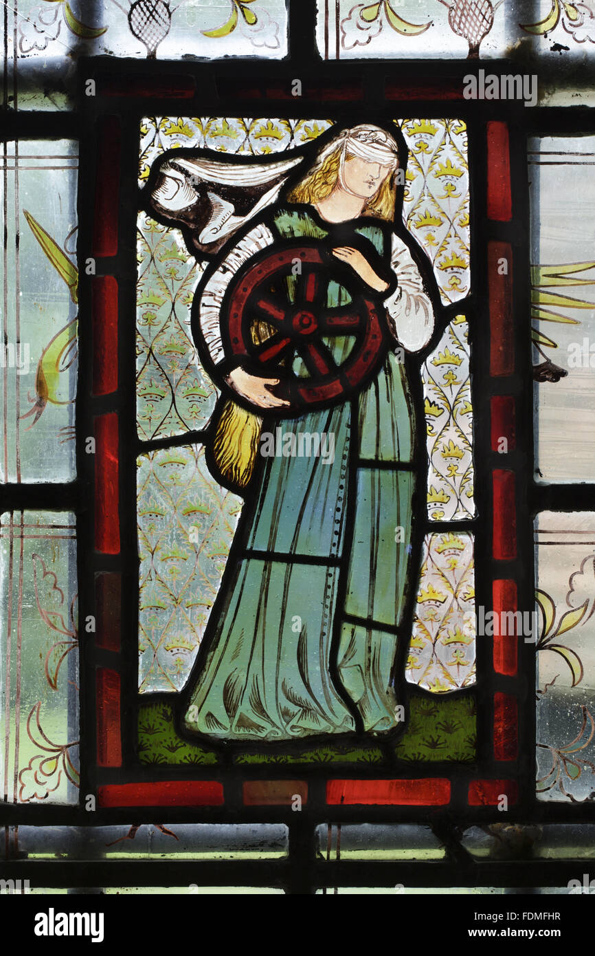 Red Stained Glass : Sir edward burne jones stained glass window quot fate in the