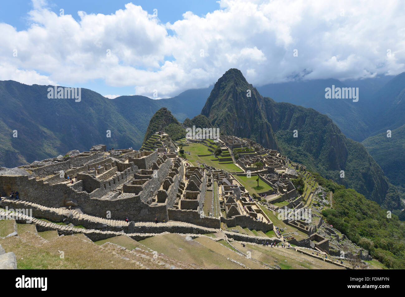 Machu Picchu, Peru, UNESCO World Heritage Site in 1983. One of the New Seven Wonders of the World. - Stock Image