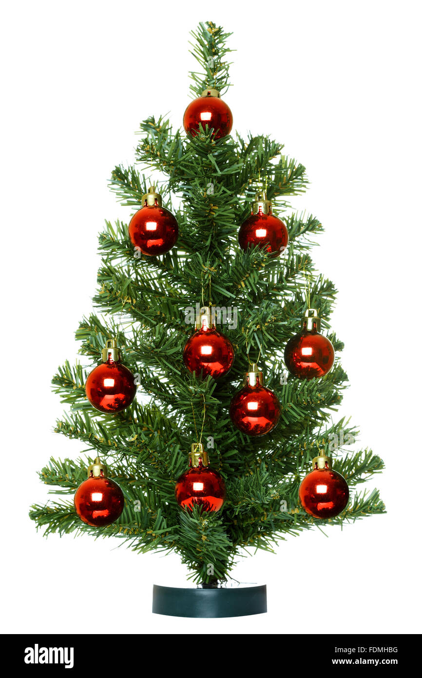 Christmas Tree isolated on the white background. - Stock Image