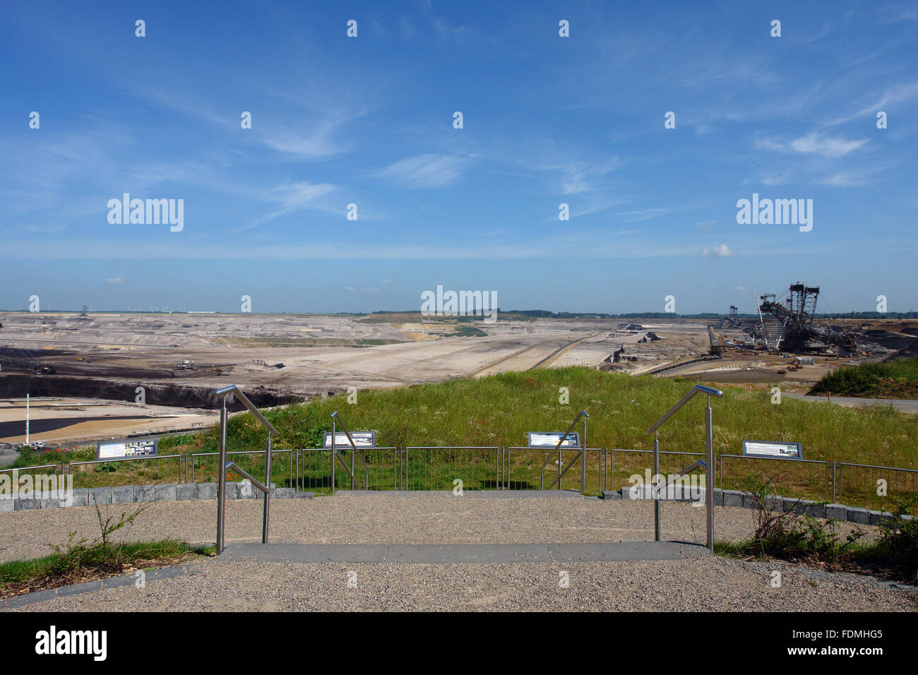 opencast,observation point - Stock Image