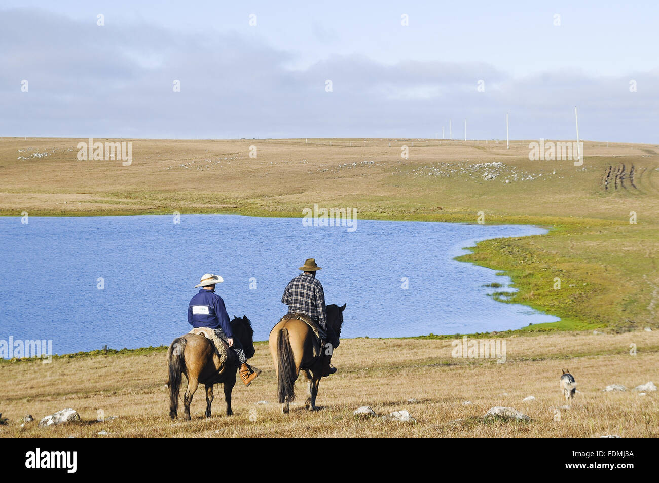 Gauchos riding in the National Park of Sierra Aparados - Stock Image