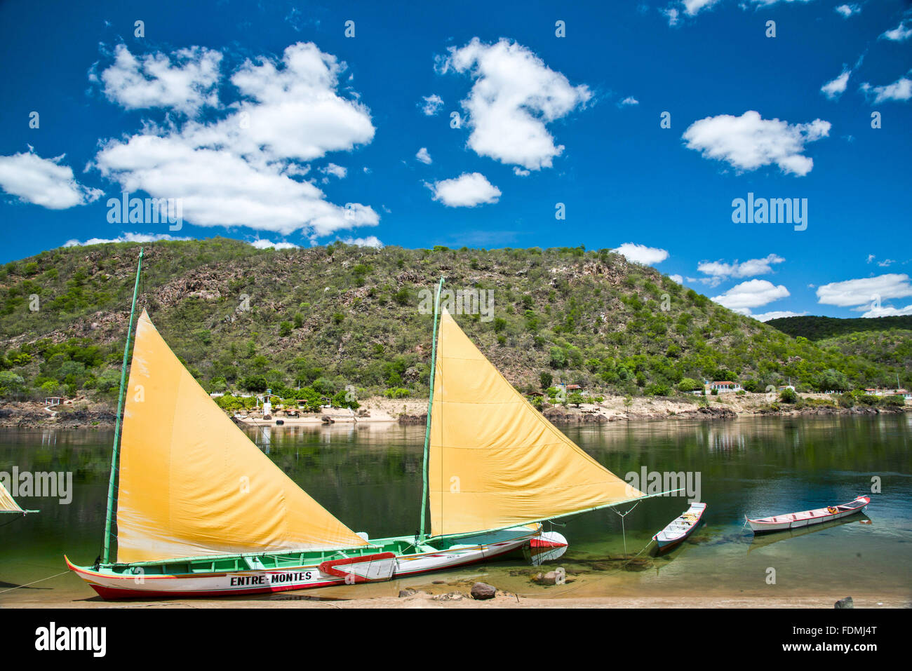 Canoe Tolda - VESSEL `50s restored to the country culture preservation - Stock Image