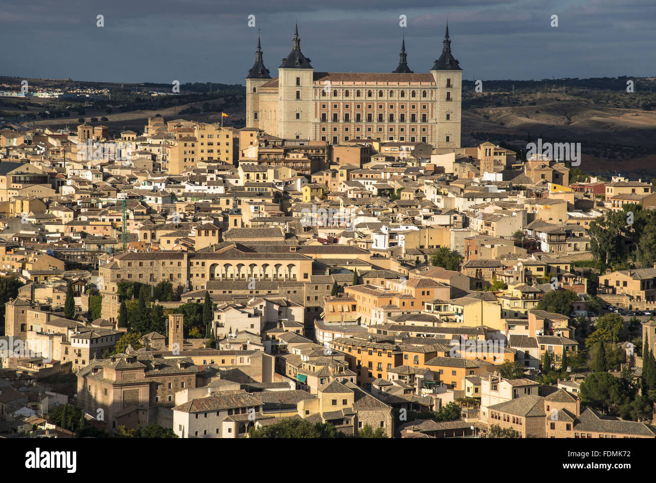 Panoramic view of the city - the region of Castilla - La Mancha - Stock Image