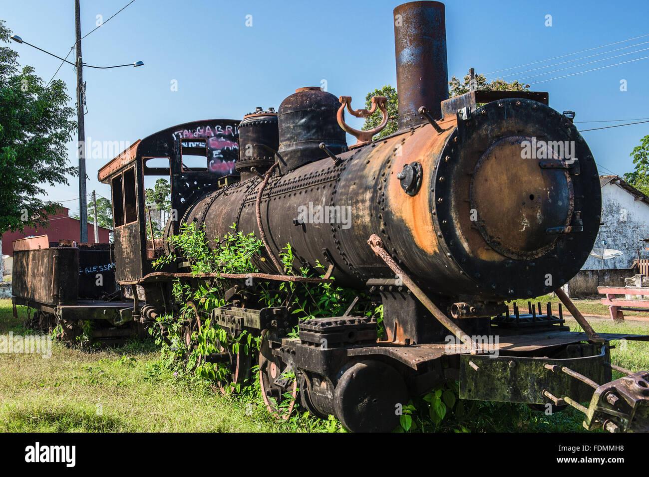Locomotive on the Madeira-Mamore - Stock Image