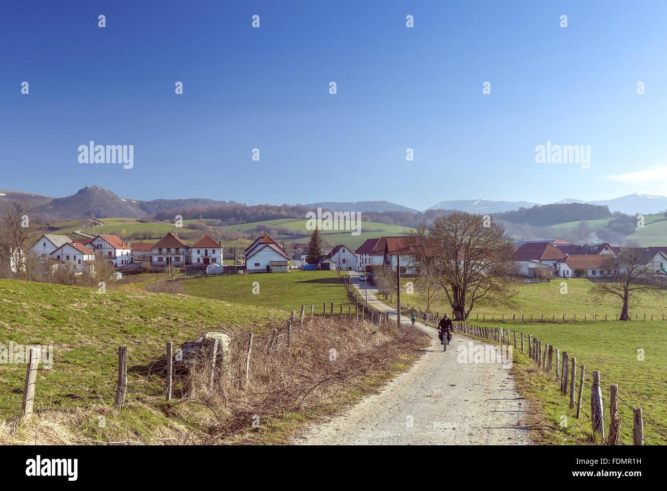 French route of the Camino de Santiago de Compostela - Stock Image