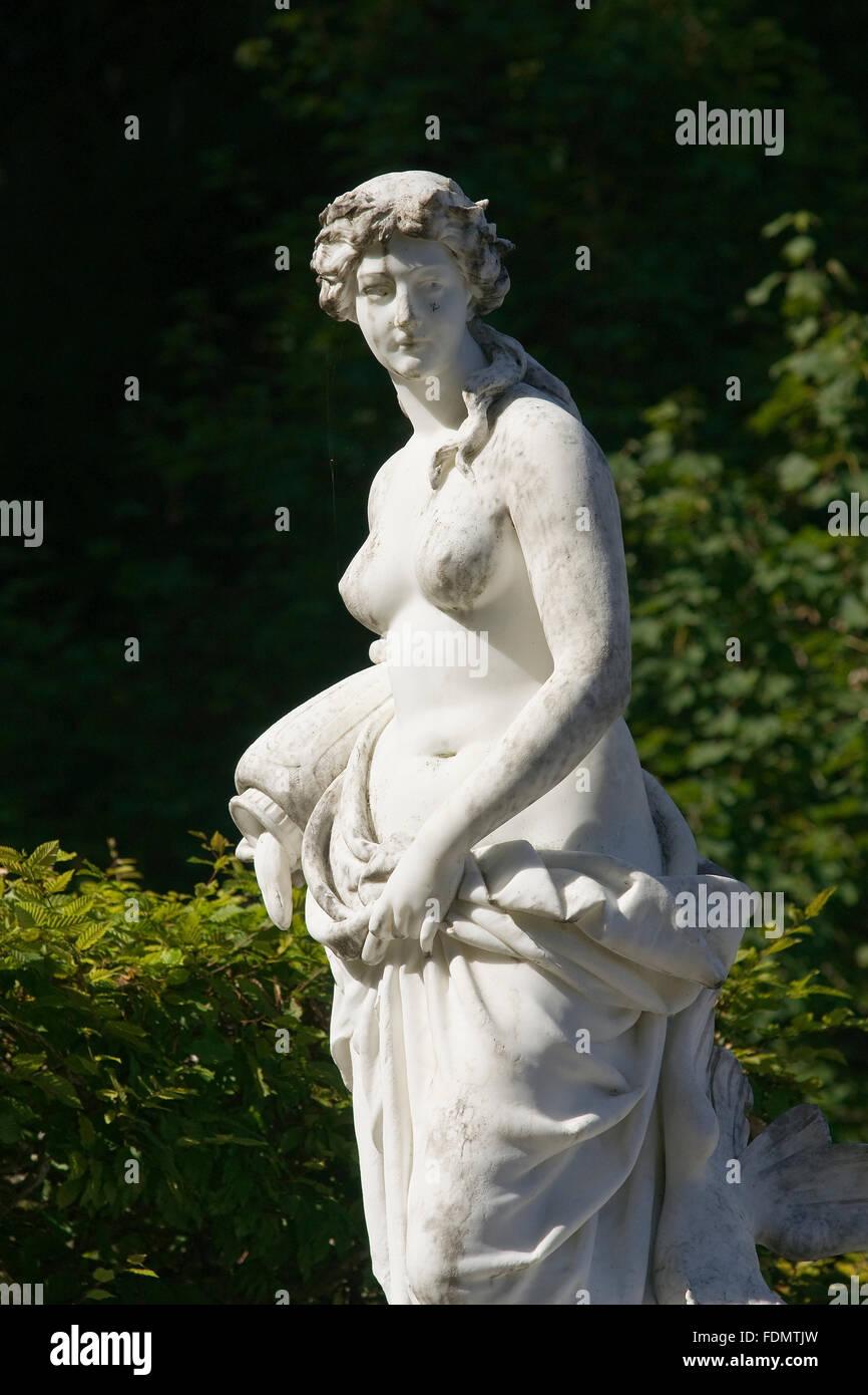 statue,schlossgarten - Stock Image