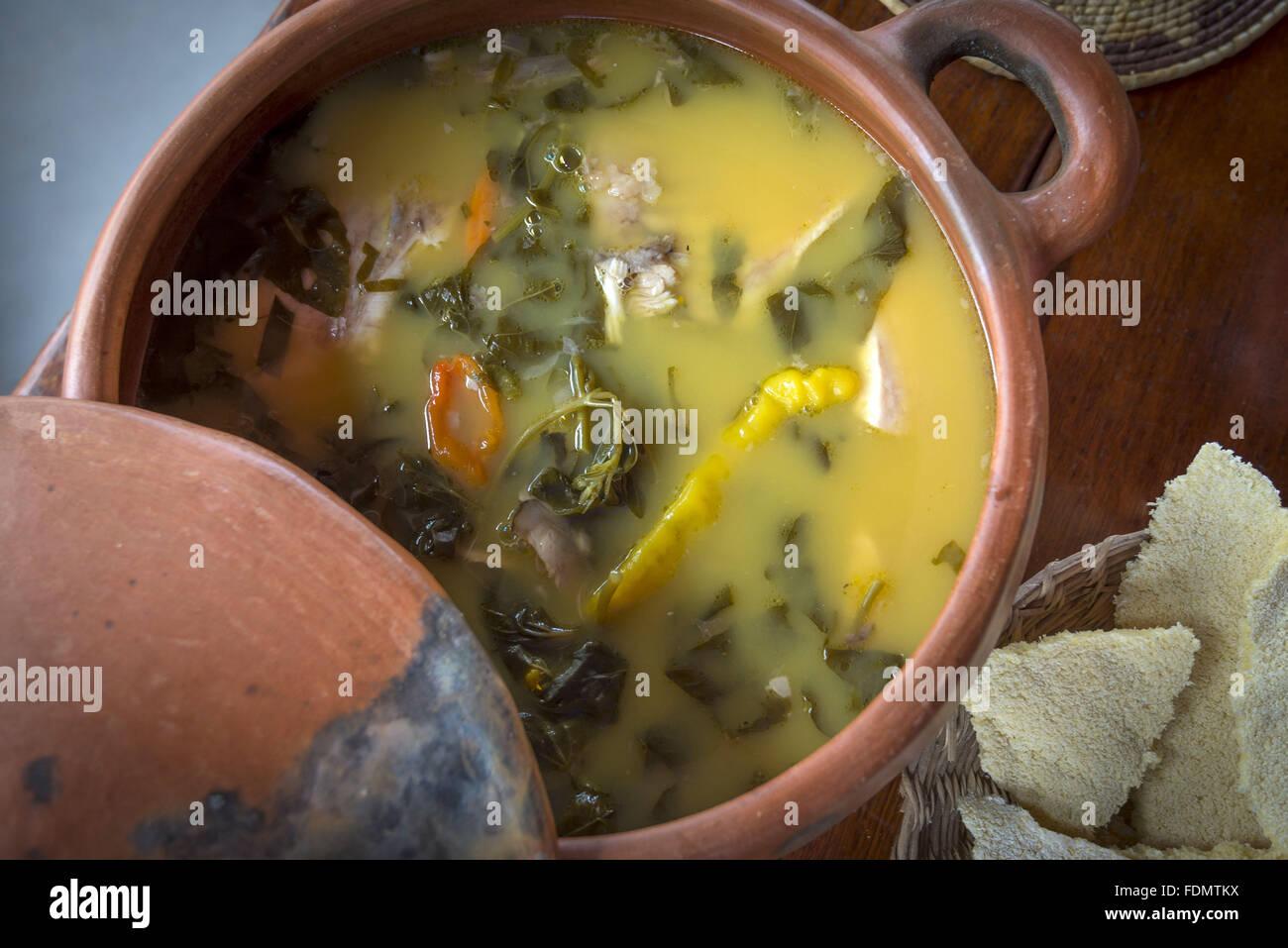 Damorida - typical dish of indigenous origin - Stock Image