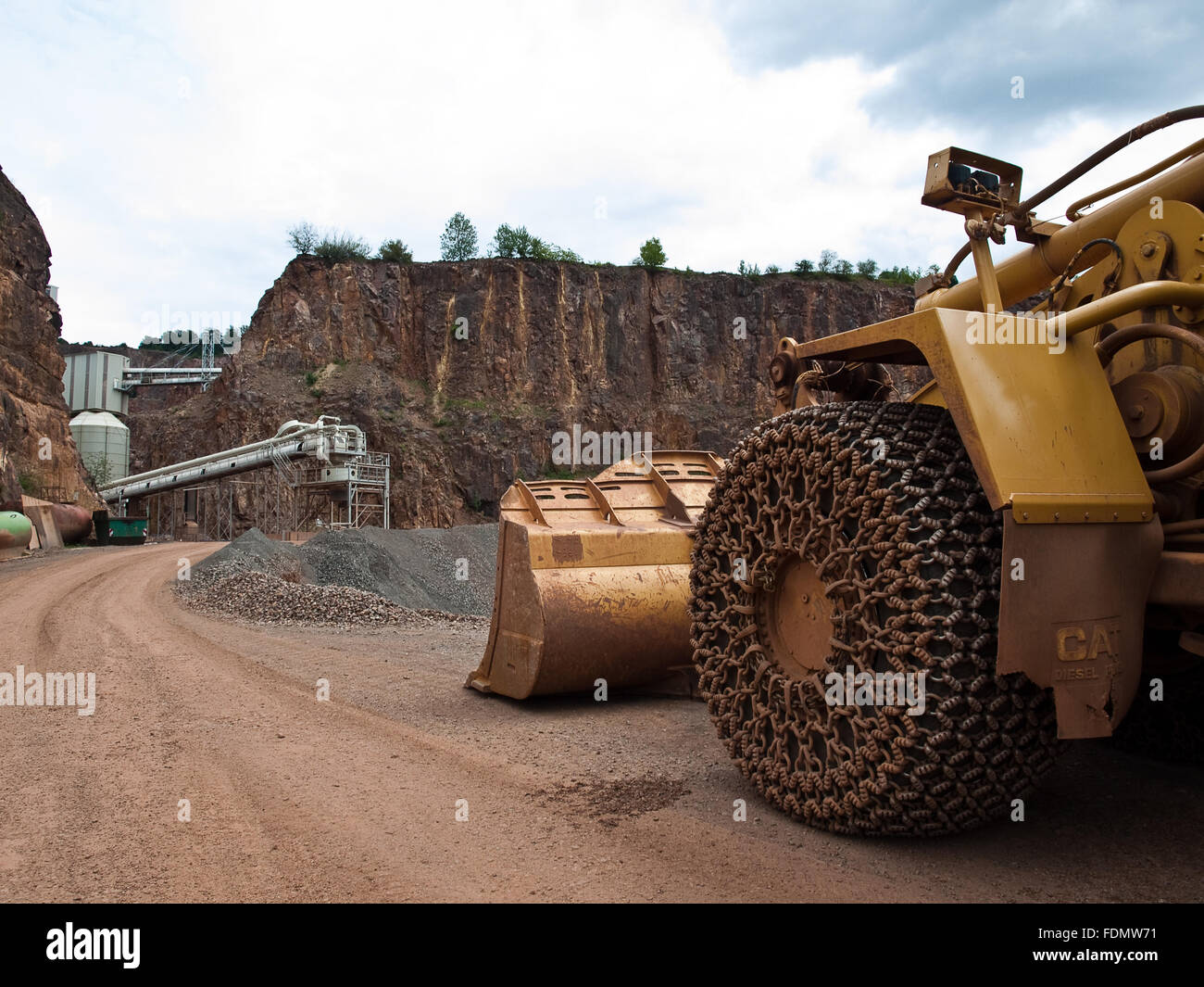 earth mover,opencast,quarry large horst - Stock Image