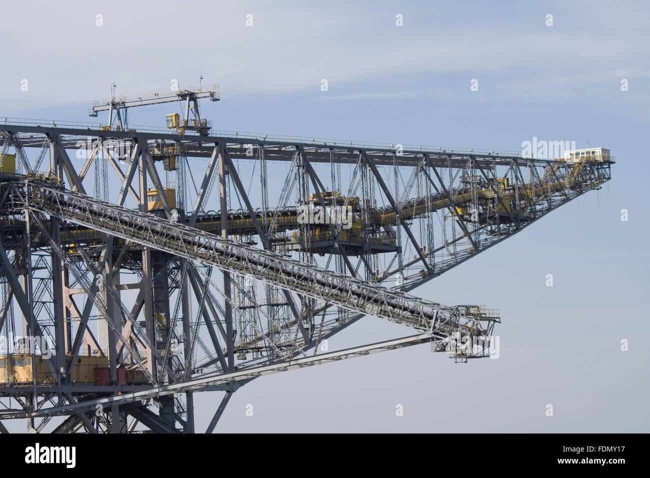 machine,opencast,conveyor bridge - Stock Image
