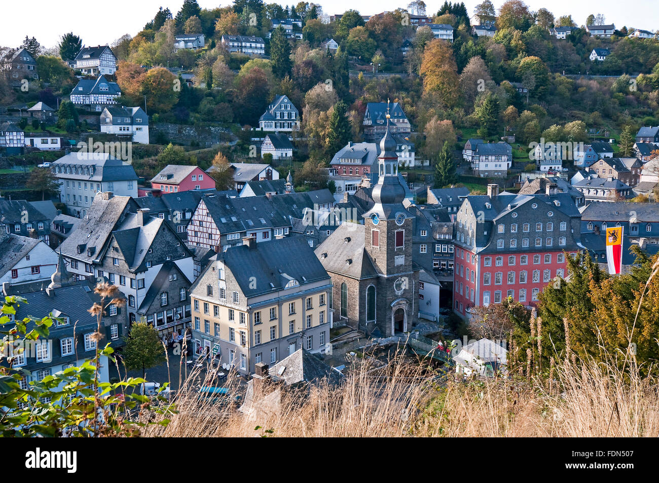 old town,monschau - Stock Image