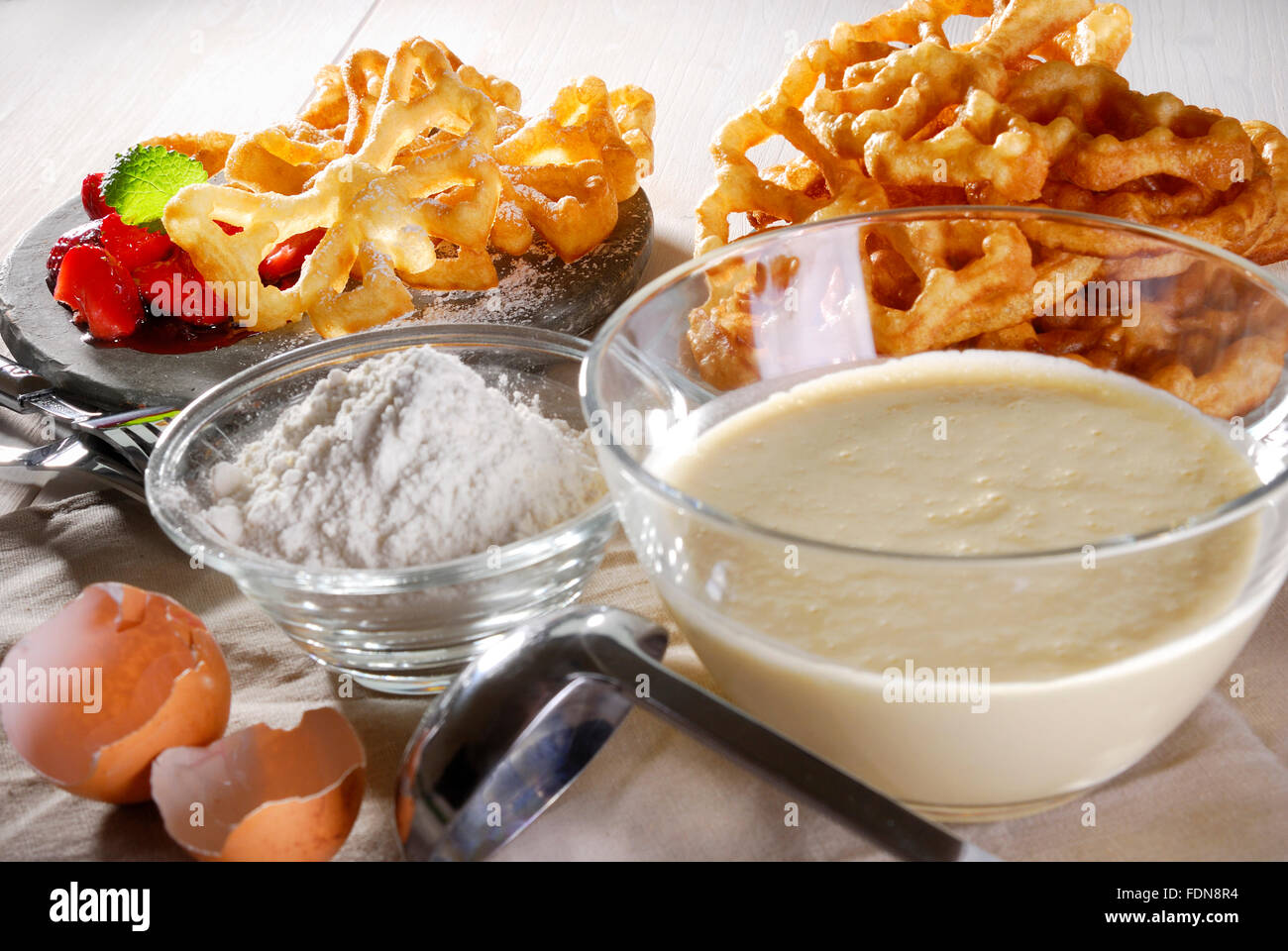 waffles,pastry,wafer preparation,wafer duff - Stock Image