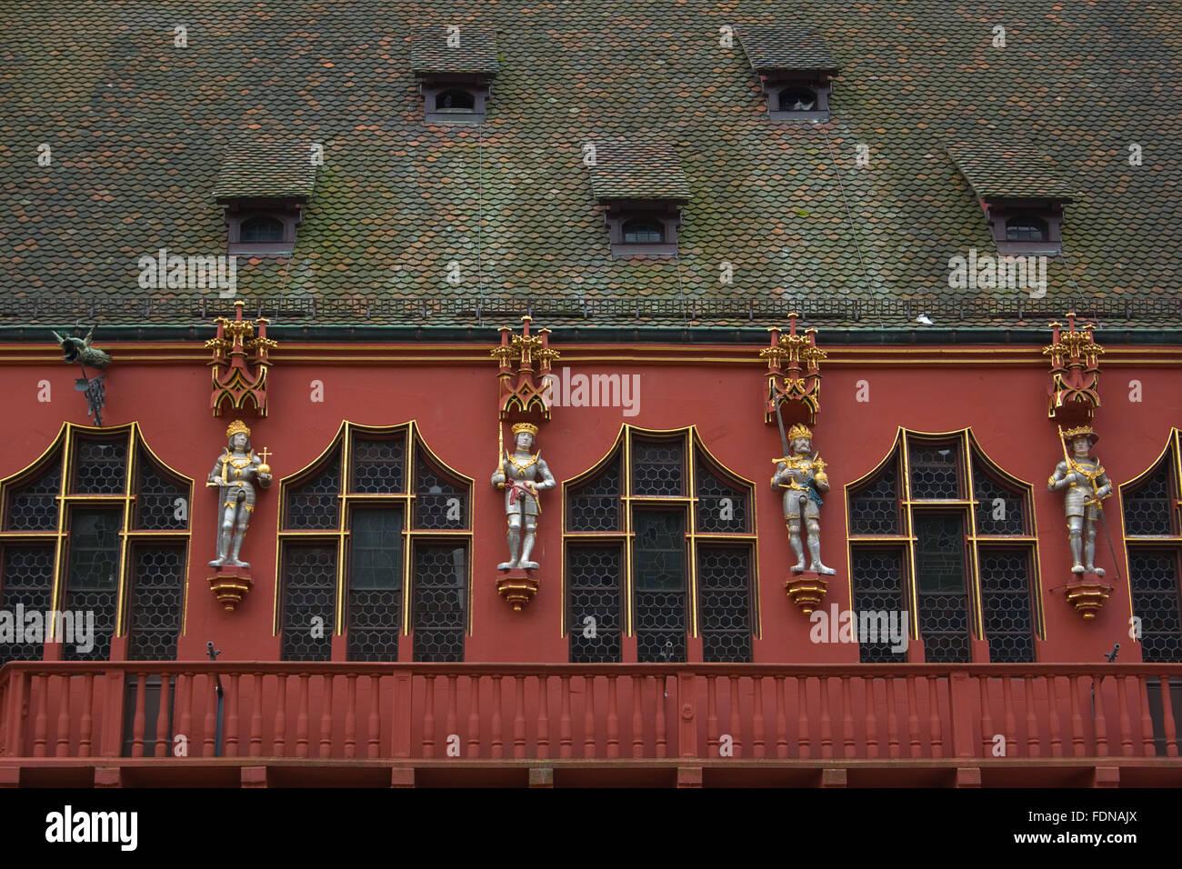 facade,freiburg im breisgau - Stock Image
