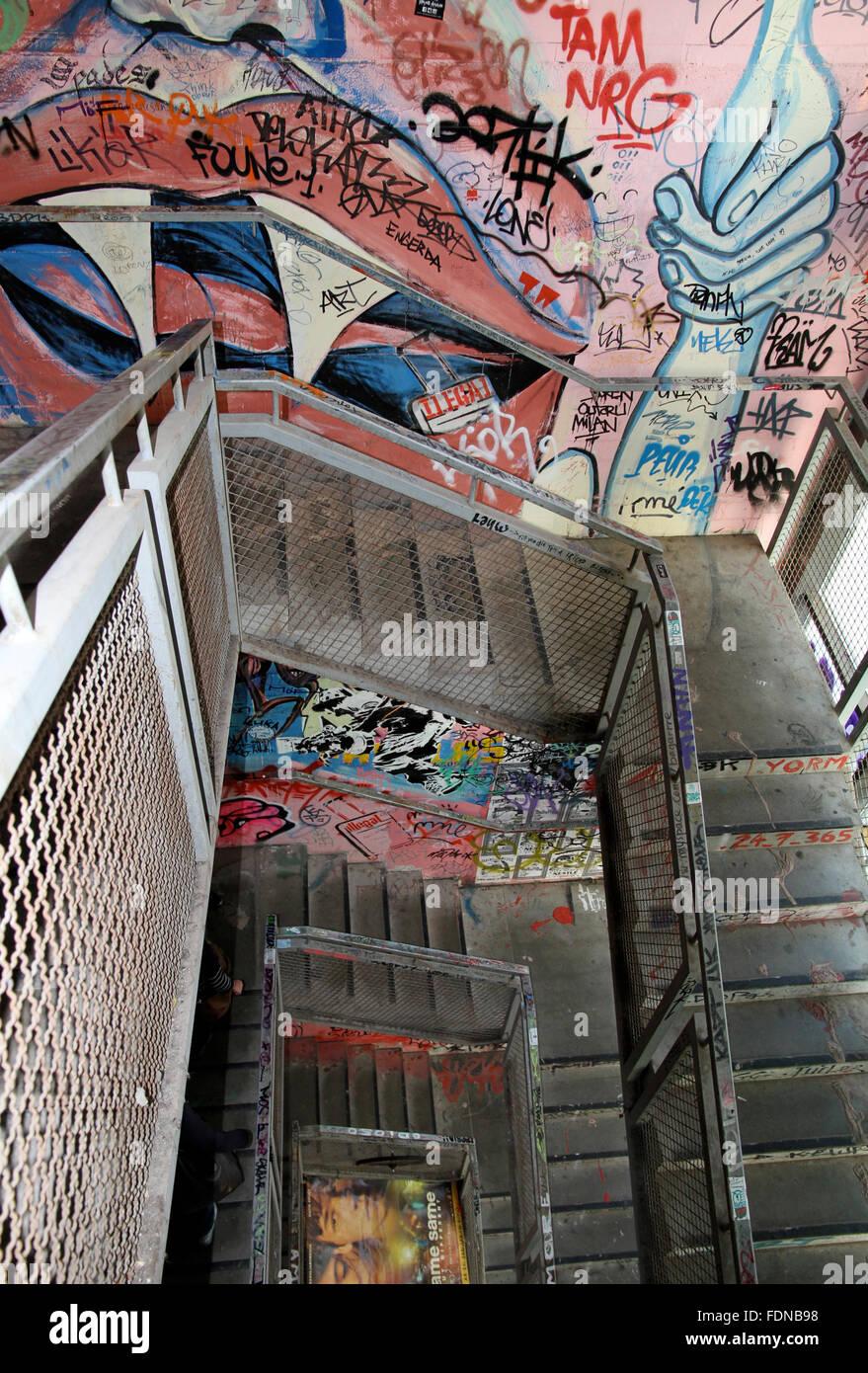 graffiti,subculture,stairway Stock Photo