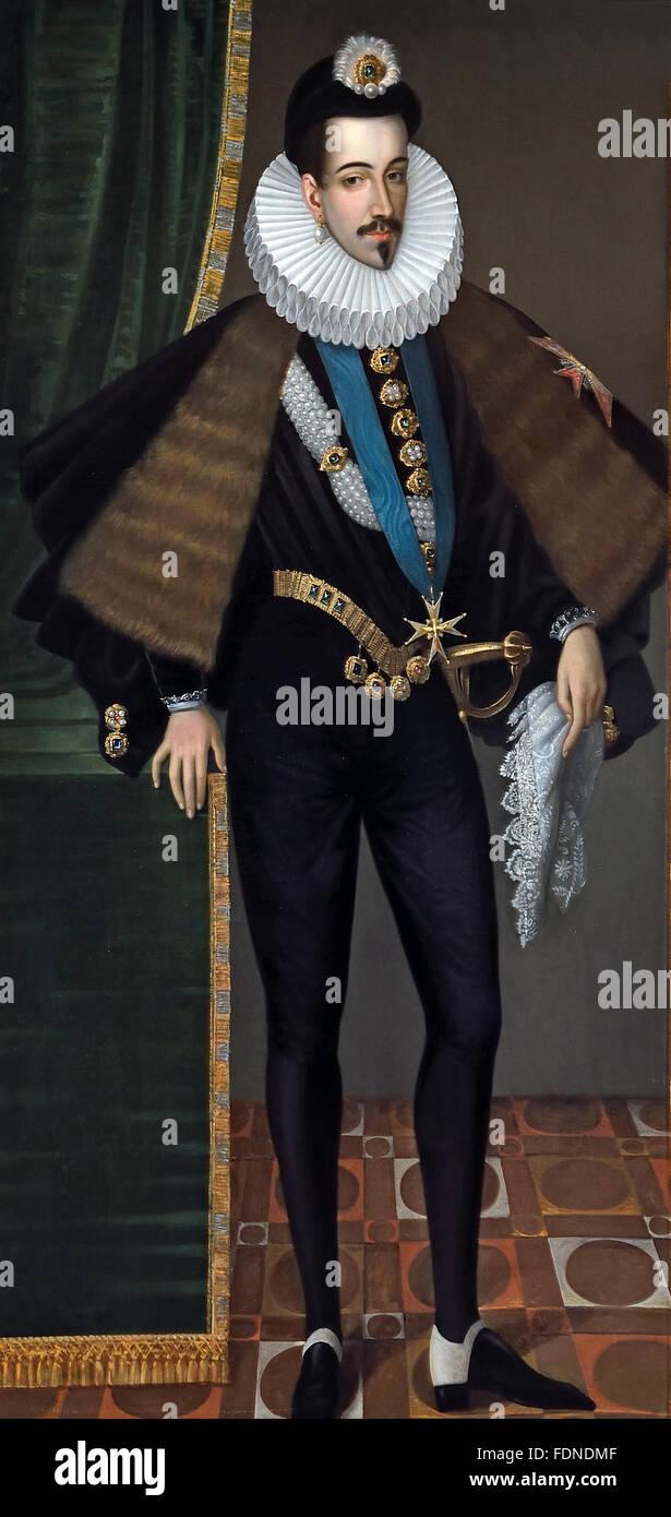 Henri King Henry III of France Edmond Castan 1817- 1892 French Painter Stock Photo