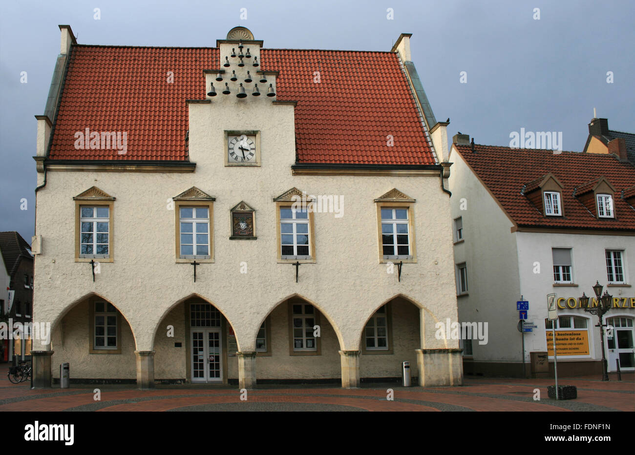 old town hall,haltern am see - Stock Image