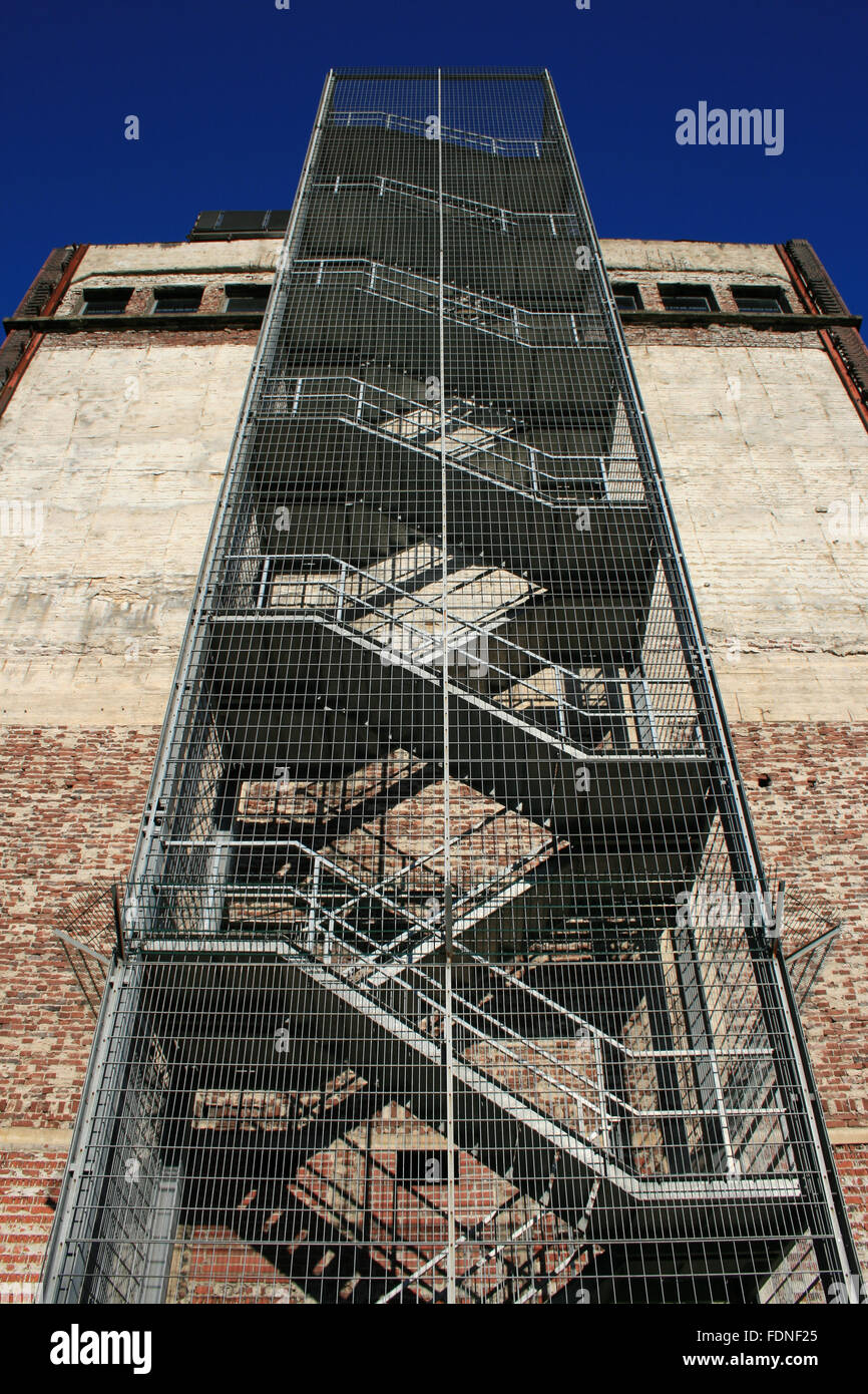 industrial building,escape,fire stairs - Stock Image