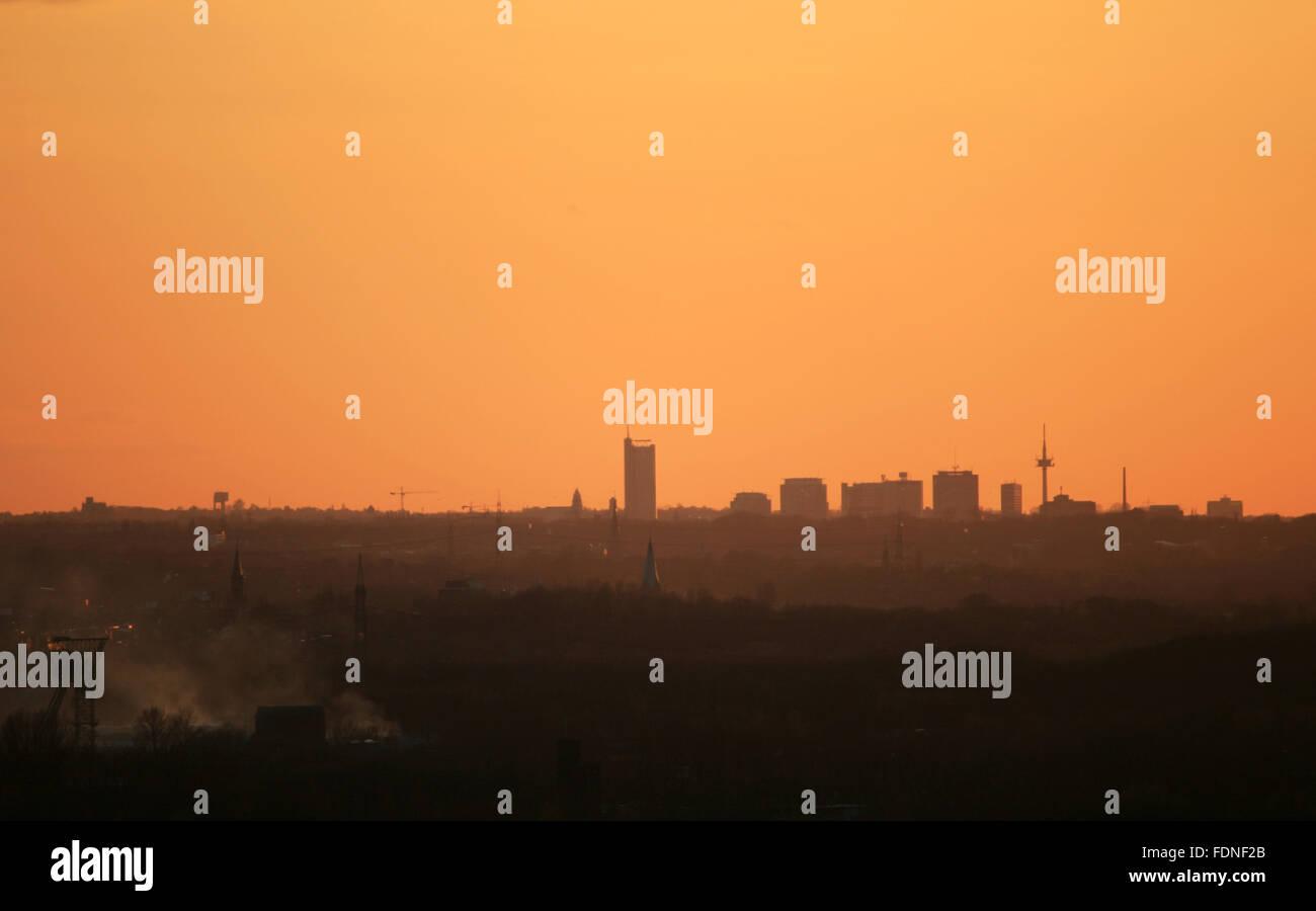 skyline,ruhrgebiet - Stock Image