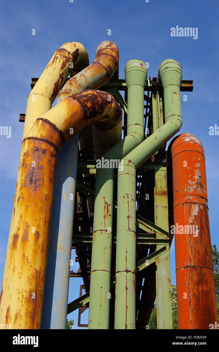 pipe,furnace gas - Stock Image