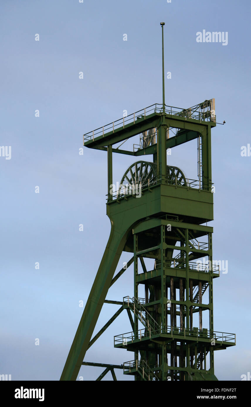 industrial monuments,shaft tower,erin - Stock Image