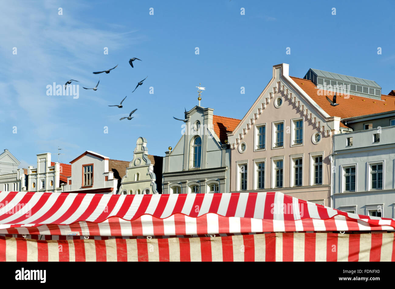 house,gable,wismar - Stock Image