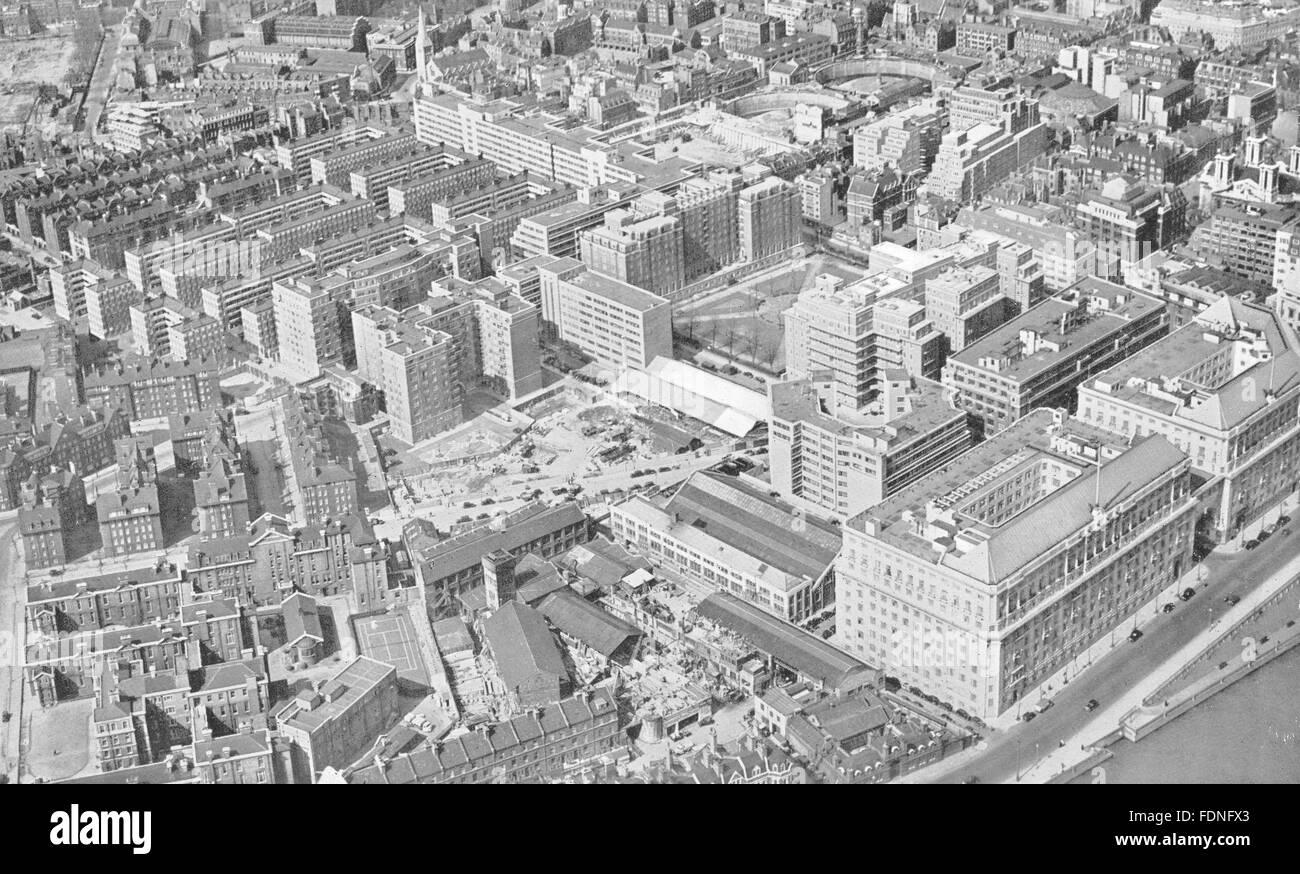 LONDON: Pre- war Redevelopment in Westminster, vintage print 1943 - Stock Image
