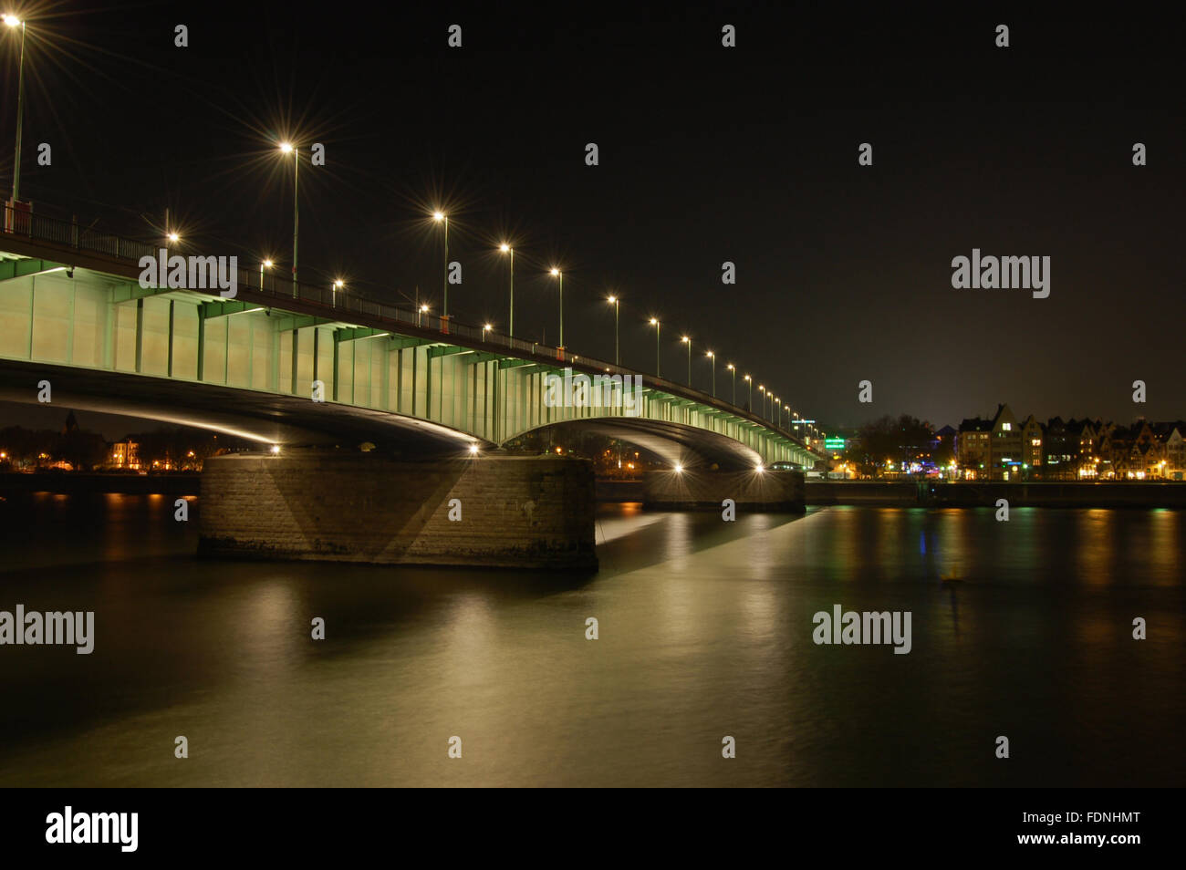 cologne,rheinbrücke,deutzer brücke - Stock Image