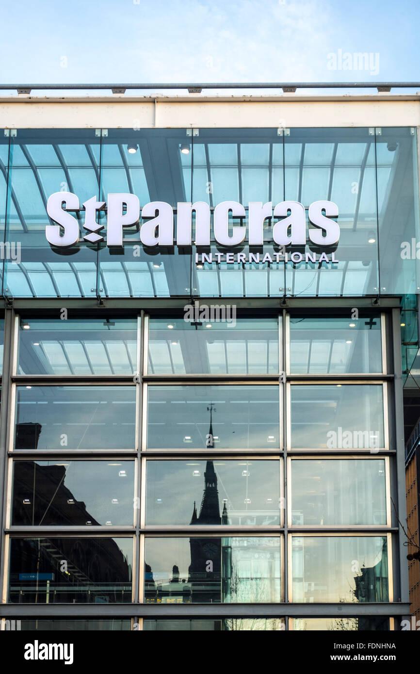 St Pancras International, London, UK - Stock Image