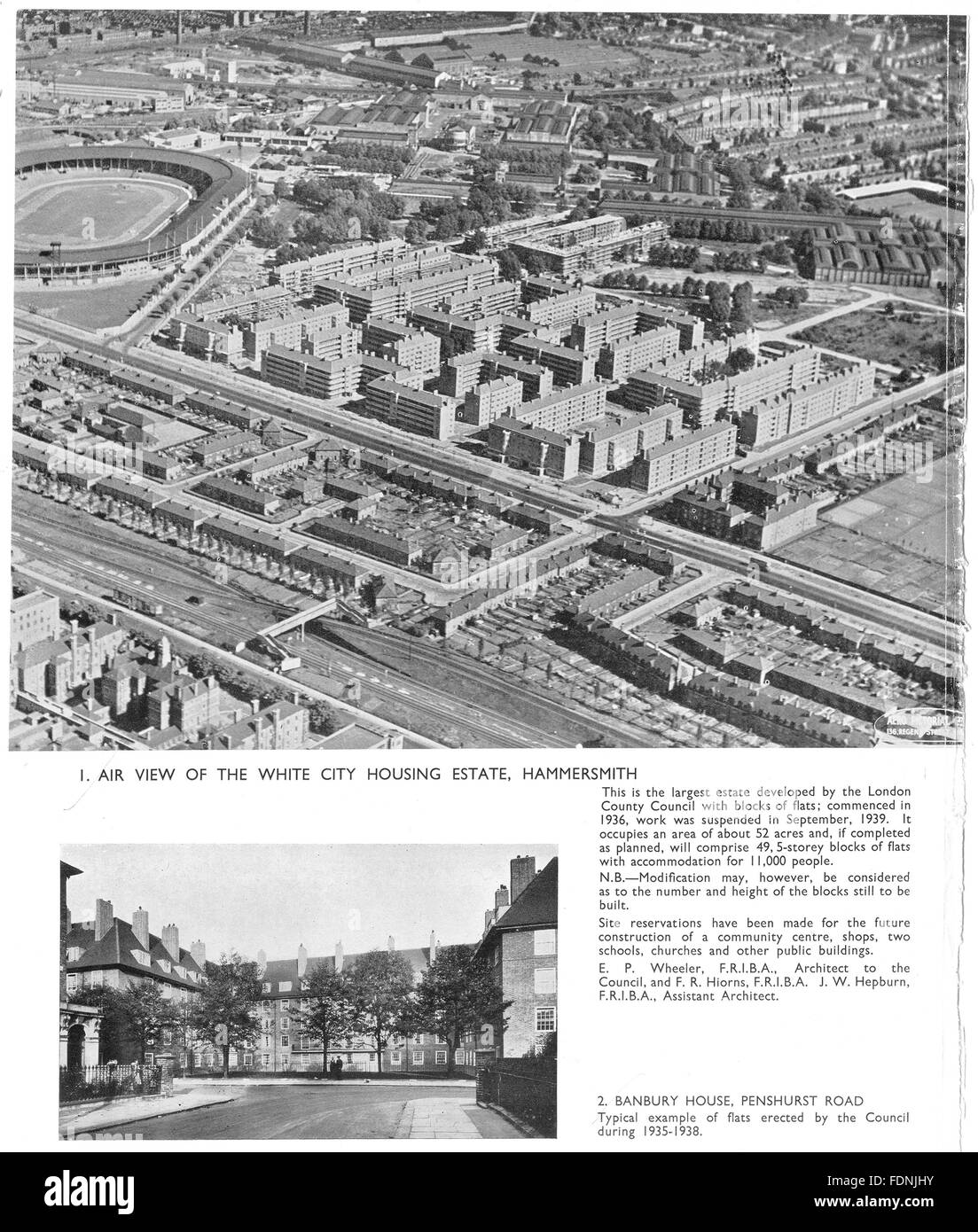 County Of London Plan Black And White Stock Photos