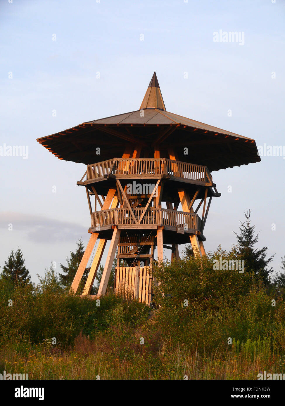 lookout tower,eggeturm - Stock Image