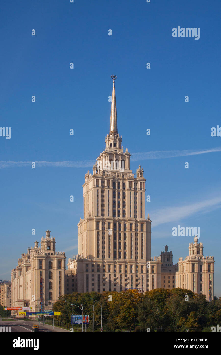 Radisson Royal Hotel Moscow (former Hotel Ukraina), one of Stalin's Seven Sisters Moscow, Russia Stock Photo